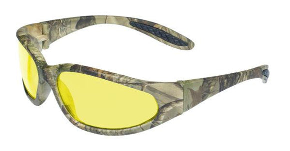 Global Vision Forest 1 Safety Glasses with Yellow Tint Lenses, Matte Camo Frames