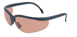 Global Vision Full Moon Safety Glasses with Driving Mirror Lenses, Matte Black Frames