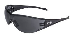 Global Vision Full Throttle Safety Glasses with Smoke Lenses, Black Frames