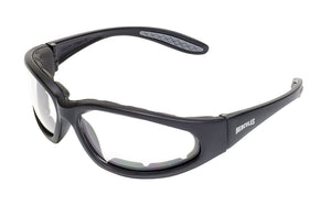 Global Vision Hercules 1 Plus A/F Anti-Fog Safety Glasses with Clear Lenses, Black Matte Frames