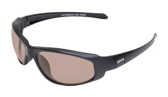 Global Vision Hercules 2 CL Safety Glasses with Driving Mirror Lenses, Matte Black Frames
