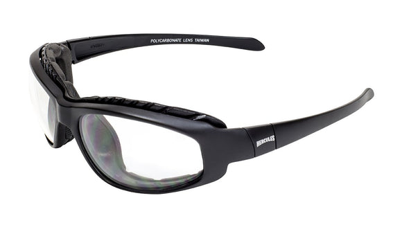 Global Vision Hercules 2 Plus Safety Glasses with Clear Lenses, Matte Black Frames