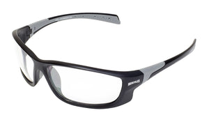 Global Vision Hercules 5 Safety Sunglasses with Clear Lenses, Matte Black Frames