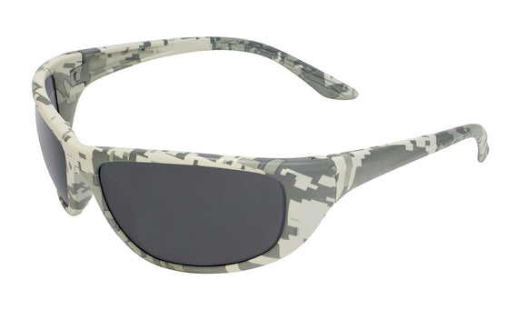 Global Vision Hercules 6 Digital Camo Safety Glasses with Smoke Lenses, Digital Camo Frames