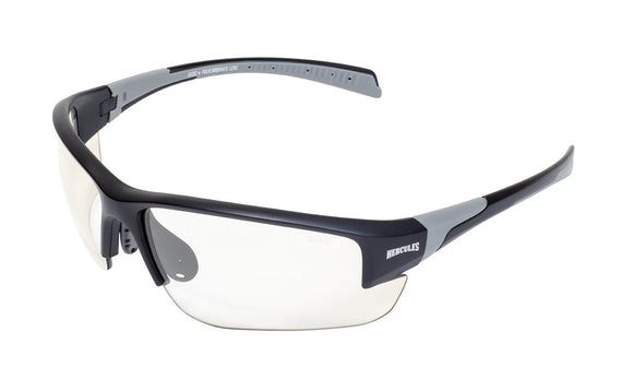 Global Vision Hercules 7 24 Safety Sunglasses with Clear Photochromic Lenses, Matte Black Frames