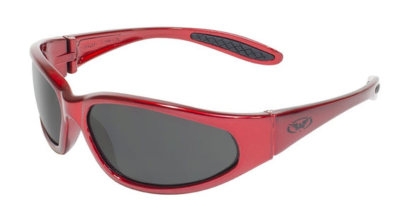 Global Vision Hercules 1 Red Safety Glasses with Smoke Lenses, Gloss Red Frames