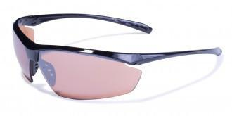 Global Vision Lieutenant Safety Sunglasses with Driving Mirror Lenses, Gloss Black Frames