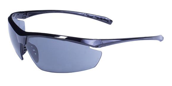 Global Vision Lieutenant Safety Glasses with Flash Mirror Lenses, Gloss Black Frames