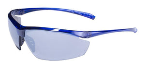 Global Vision Lieutenant CF FM Safety Glasses with Flash Mirror Lenses, Blue Frames