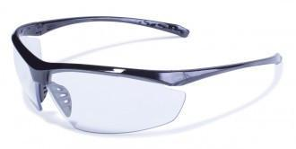 Global Vision Lieutenant Safety Glasses with Clear Lenses, Gloss Black Frames