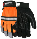 MCR Safety 911DP Multi-Task Hi Vis Double Palm Gloves