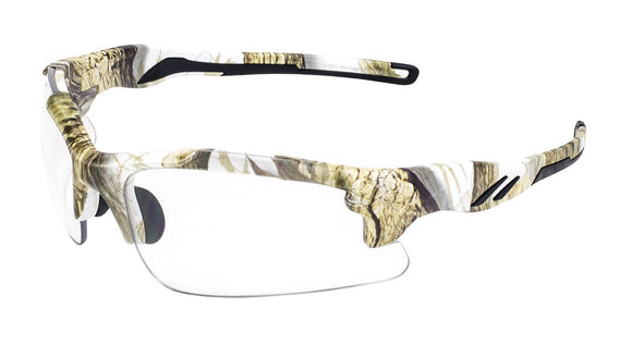 Global Vision Metro White Camo Safety Glasses with Clear Lenses ...