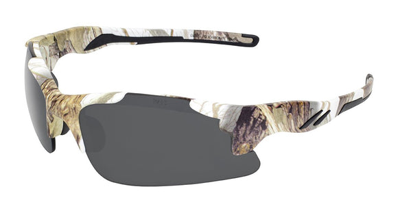 Global Vision Metro White Camo Safety Glasses with Smoke Lenses, Matte White Camo Frames