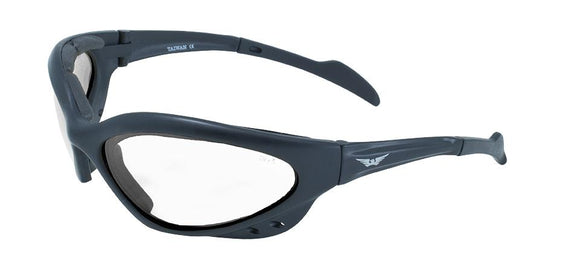 Global Vision Neptune Safety Glasses with Clear Lenses, Black Frames