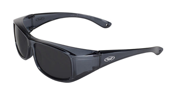 Global Vision OG-1 SM Safety Glasses with Smoke Lenses, Gloss Crystal Smoke Rectangular Frames