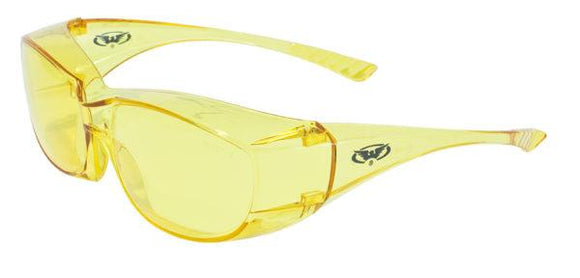 Global Vision Oversite Safety Glasses with Yellow Tint Lenses