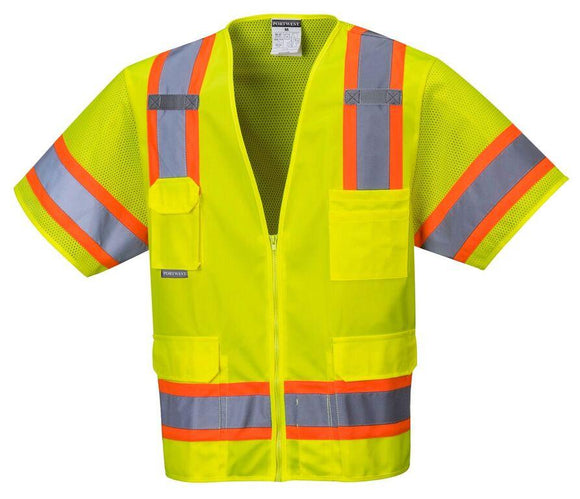 Portwest US373 Aurora Sleeved Hi-Vis Safety Vest