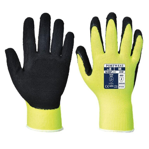 Portwest A340 Hi-Vis Latex Foam Grip Glove