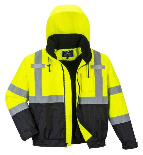 Portwest US364 Hi-Vis Premium 2-in-1 Bomber Jacket