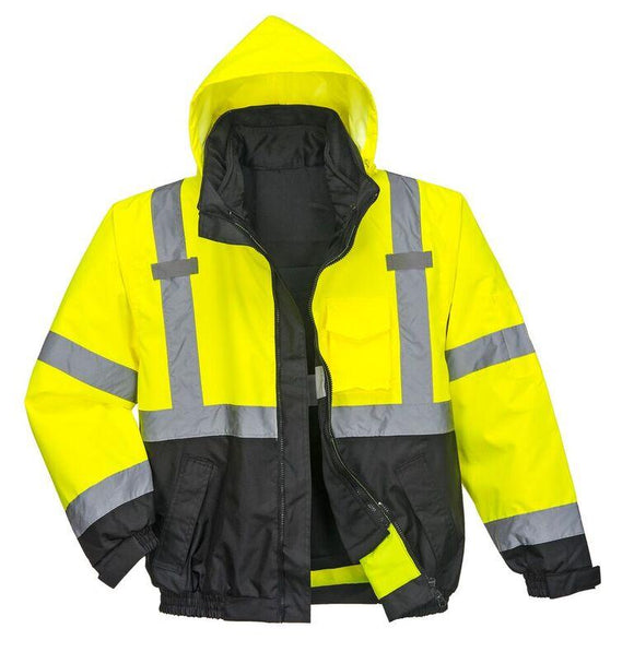 Portwest US365 Hi-Vis Premium 3-in-1 Bomber Jacket