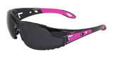 Global Vision Pink-It Safety Glasses with Smoke Lenses