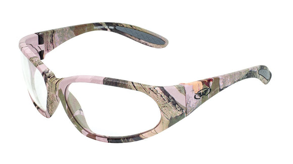 Global Vision Pink-O Safety Glasses with Clear Lenses, Matte Pink Camo Frames
