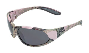 Global Vision Pink-O Safety Glasses with Smoke Lenses, Matte Pink Camo Frames