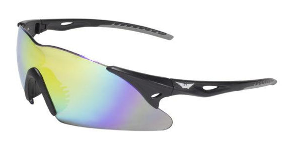Global Vision Transit GT Yellow Safety Glasses with G-Tech Yellow Lenses, Matte Black Frame