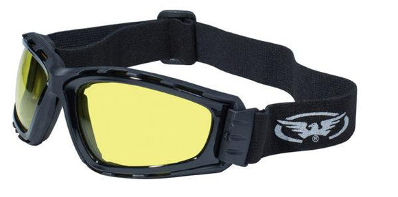 Global Vision Trip Goggles with Yellow Tint Lenses