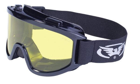 Global Vision Wind-Shield A/F Anti-Fog Goggles with Yellow Tint Lenses