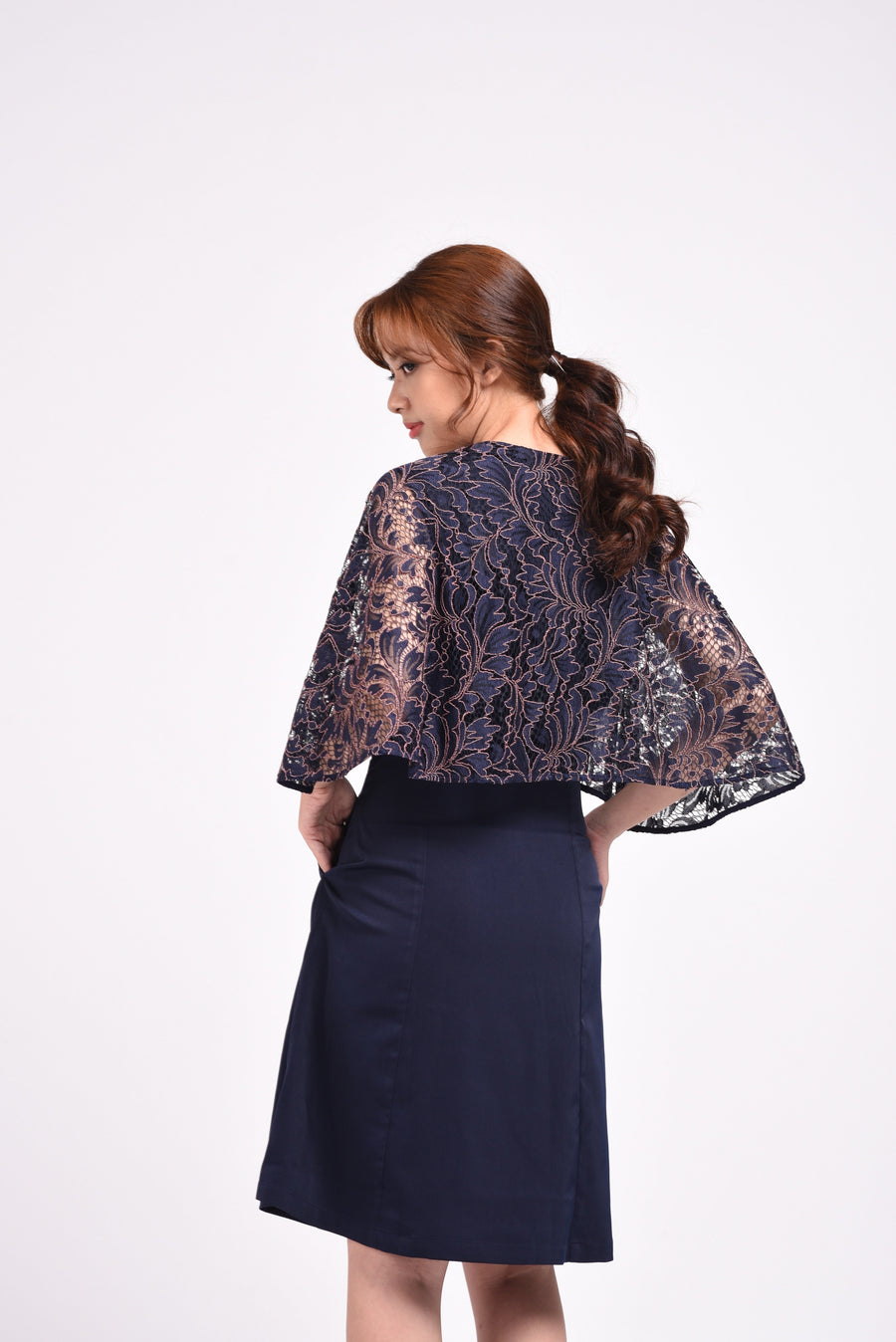 Cape Dress Lace
