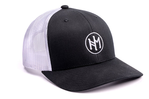 Hengsy Hat - The Holsteiner - Black and White trucker hat baseball cap