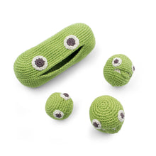 Load image into Gallery viewer, Green Peas Rattle cotton soft toy gift kids and family