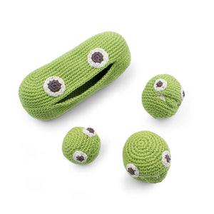Green Peas Rattle cotton soft toy gift kids and family