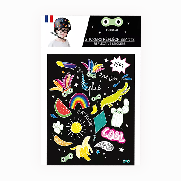 PEP Reflective stickers on bike scooter helmet kids gift
