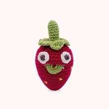 Load image into Gallery viewer, Mini strawberry rattle Myum soft toy kids gift
