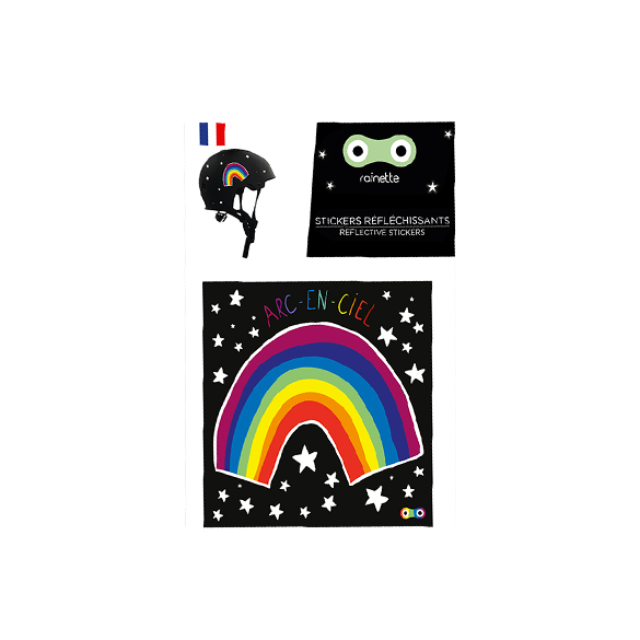 Rainbow Reflective stickers on bike scooter helmet kids gift