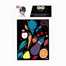 Load image into Gallery viewer, Vegatable Reflective stickers on bike scooter helmet kids gift