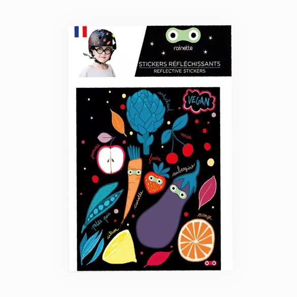Vegatable Reflective stickers on bike scooter helmet kids gift