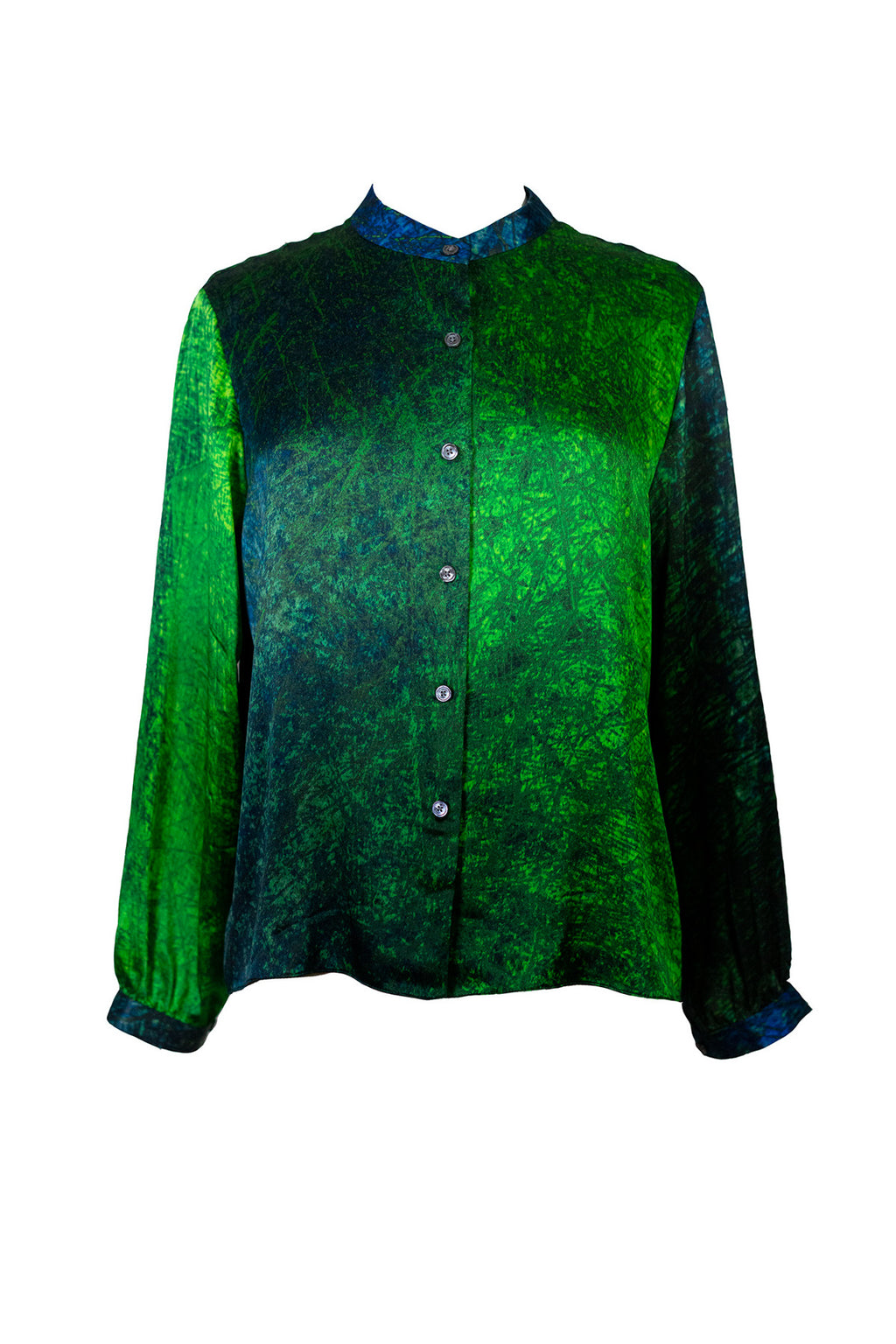 The Sea Lines Silk Boxy Shirt