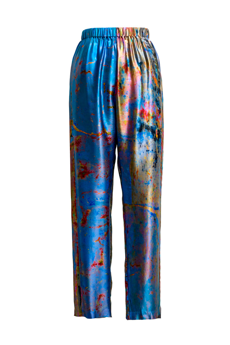 The Charred Willow Silk Palazzo Pant