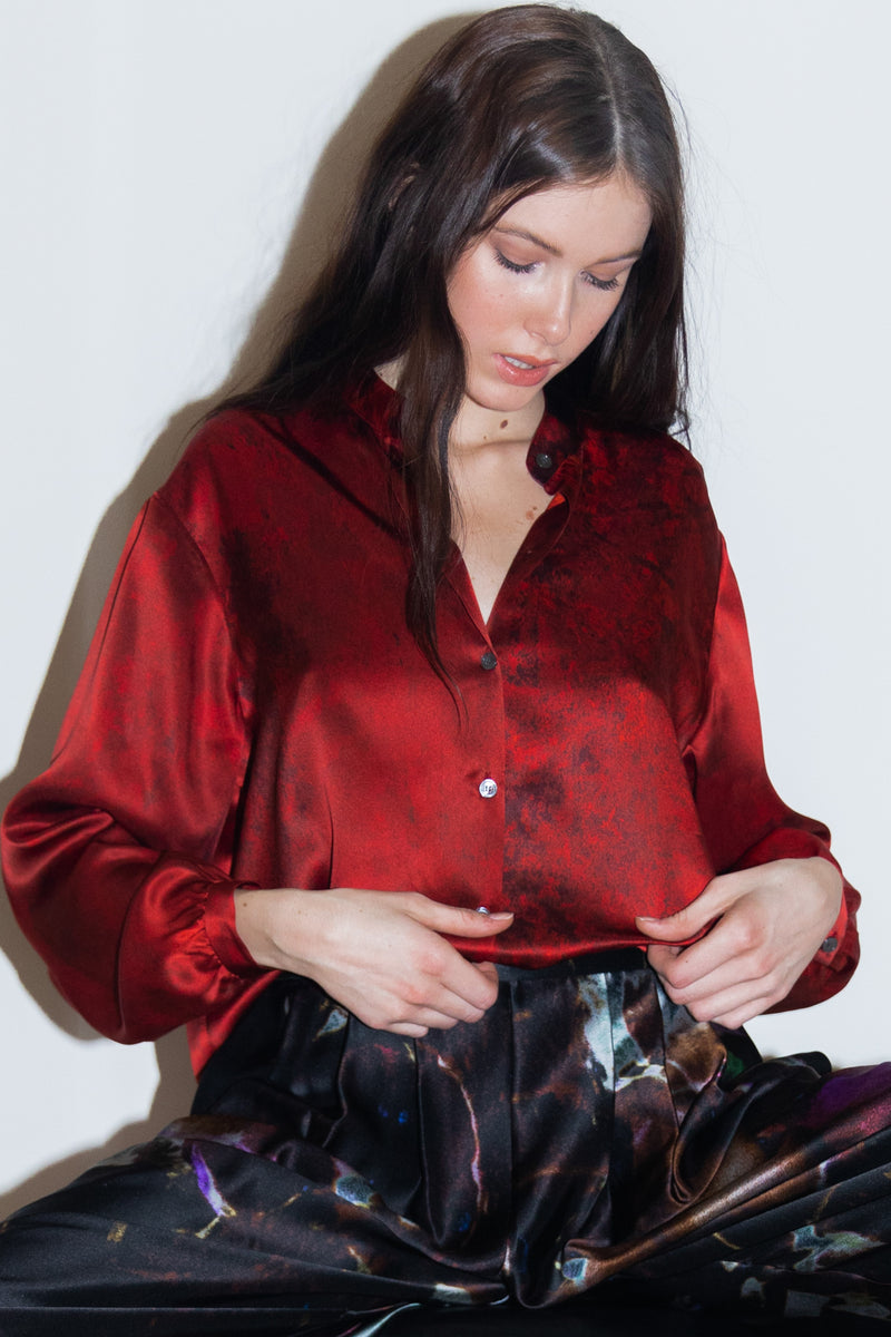 Rouge Boxy Shirt