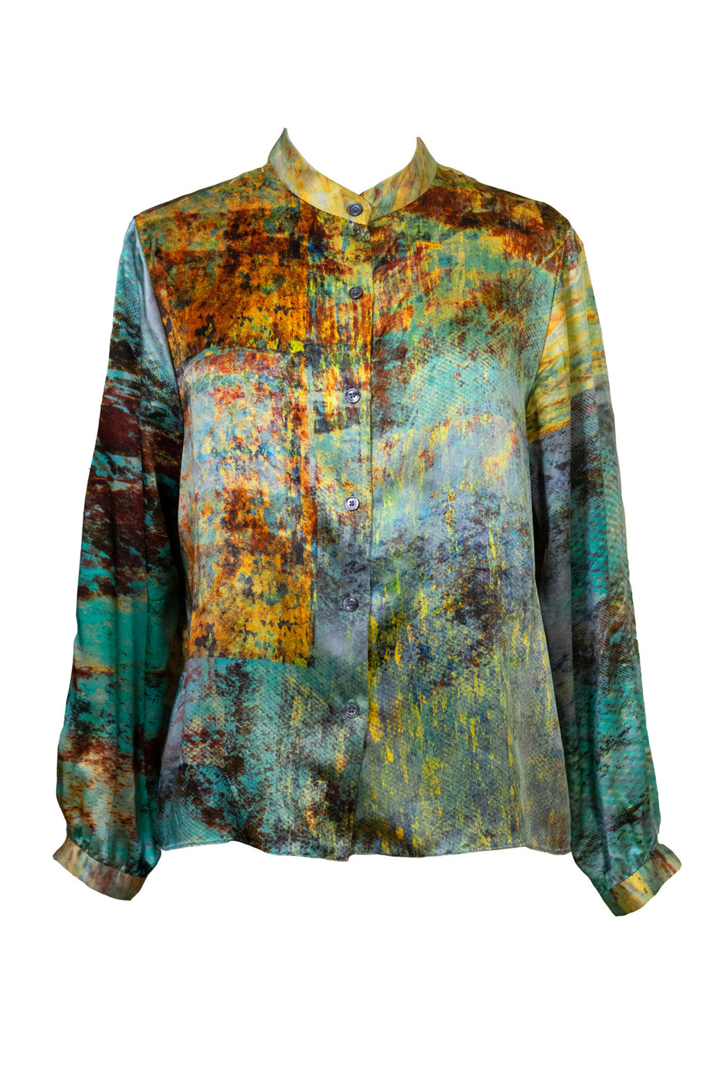 The Milos Silk Boxy Shirt