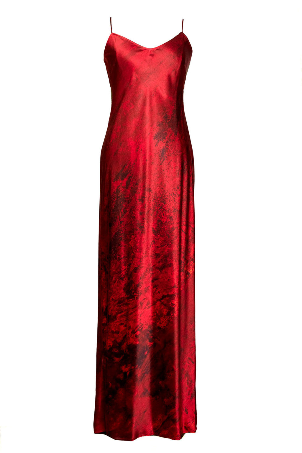 The Nuit Rouge Silk Slip Dress