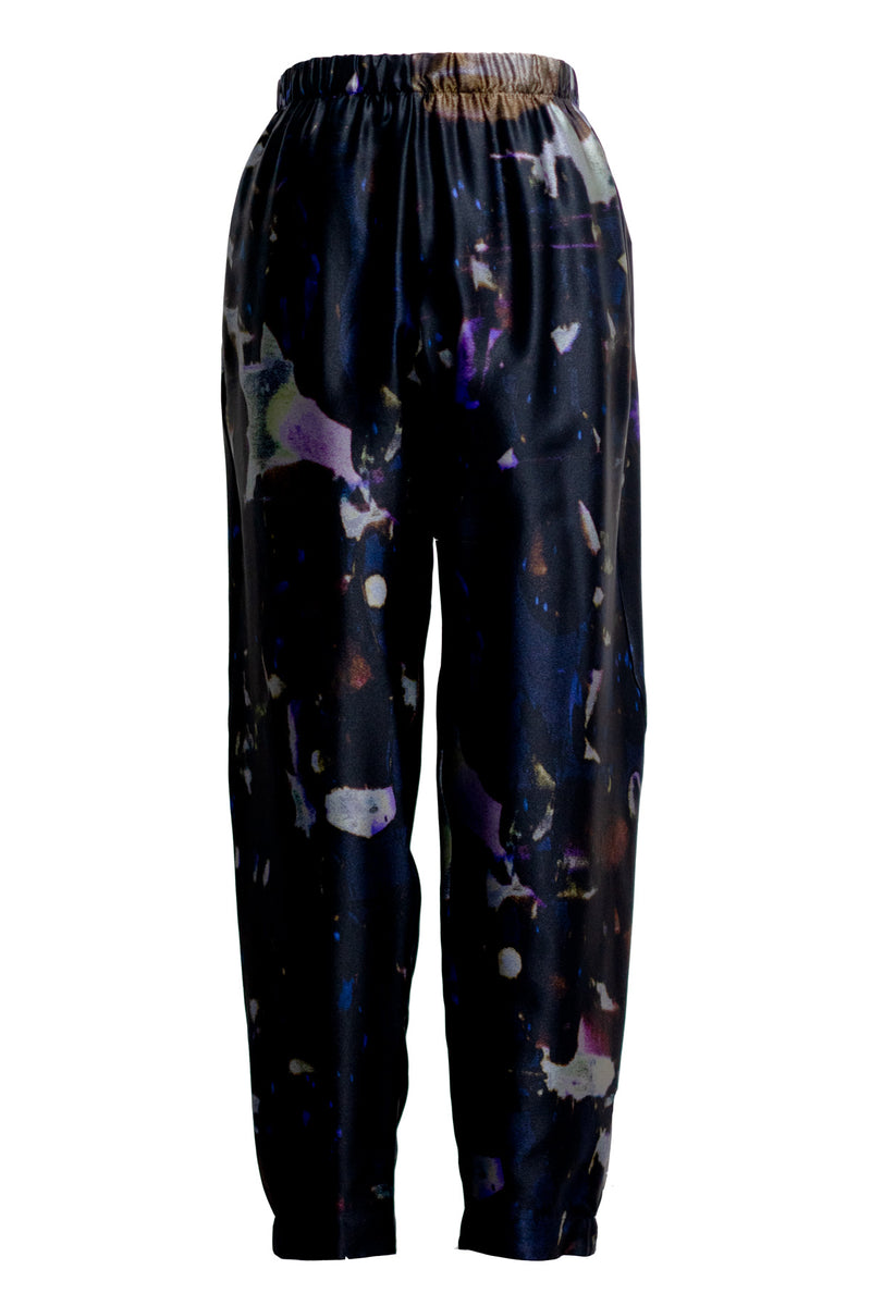 The Black Lava Silk Jogger Pant