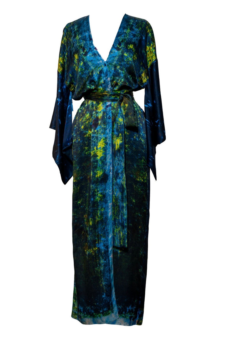 The Charred Willow Silk Carmen Kimono