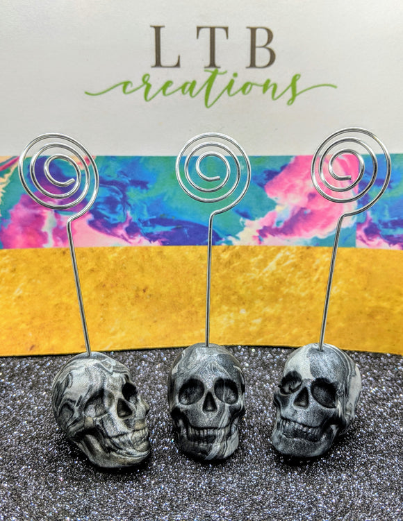 Marbled Skull Photo/Card Holder