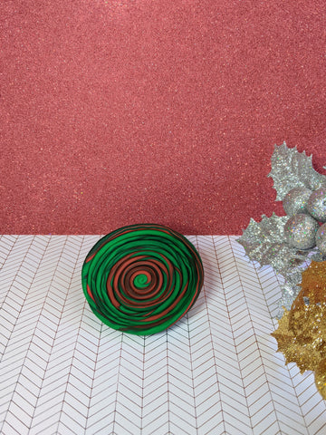Red & Green Jewelry Dish