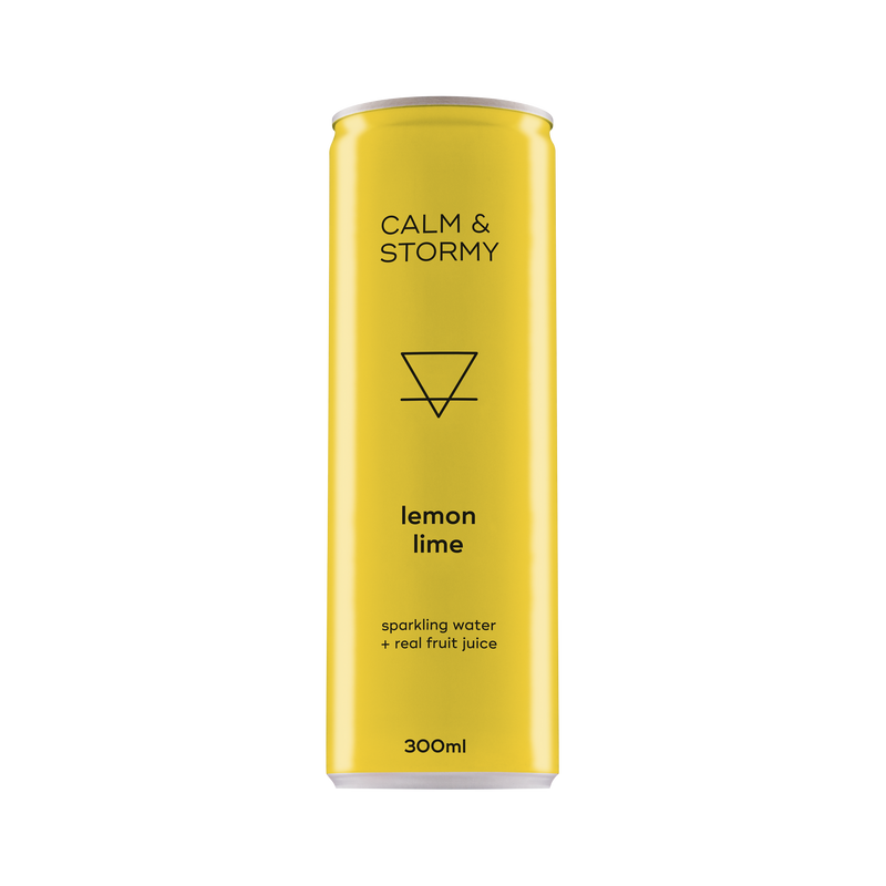 Calm and Stormy Lemon Lime Sparkling 24 Can Pack