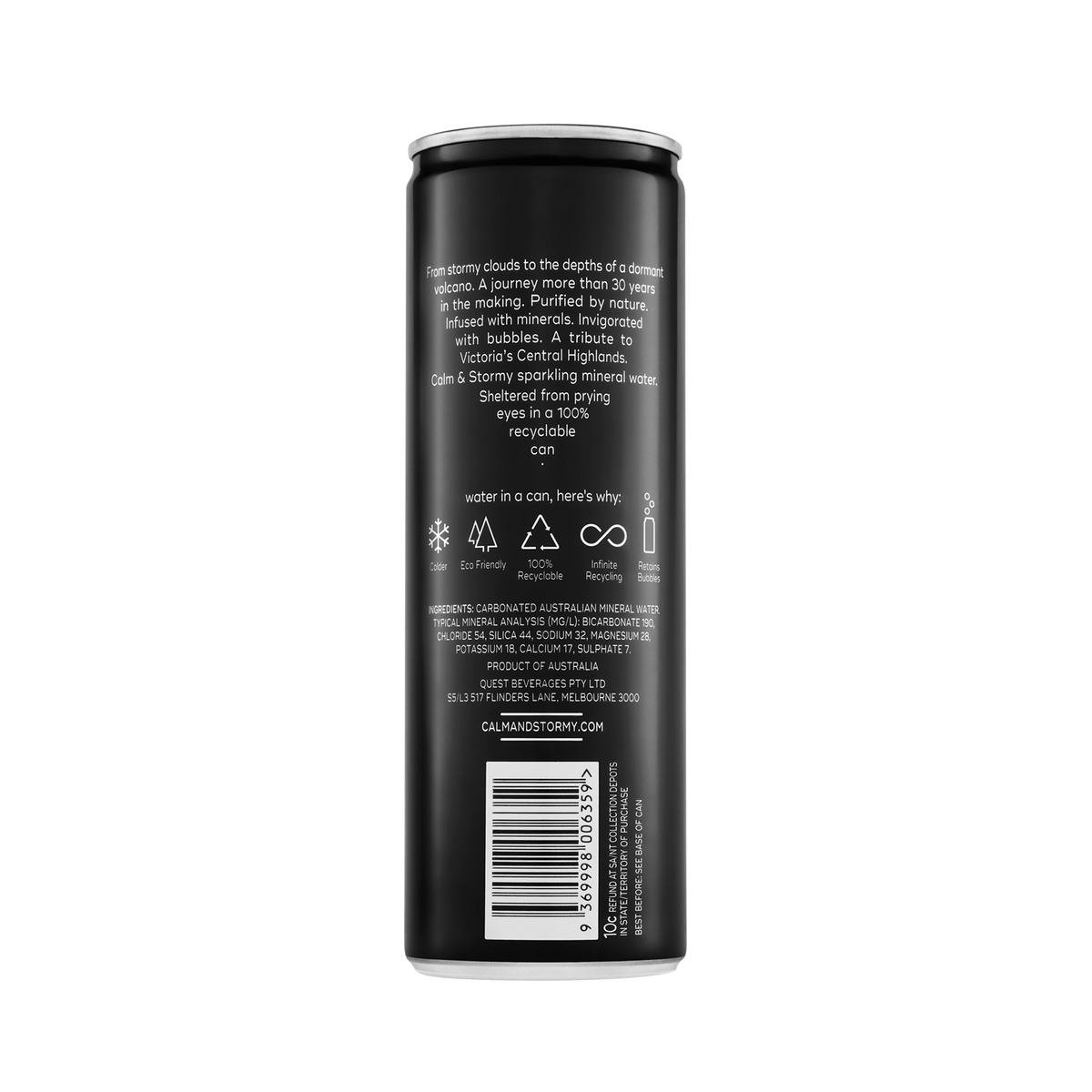 300ml Sparkling Water- Plain (12cans)